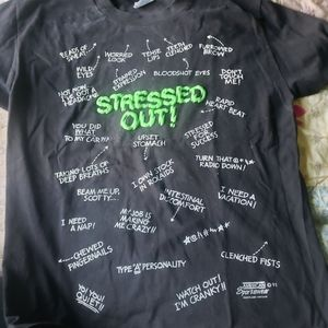 HANES Heavy Weight 50/50 Large STRESSED OUT T